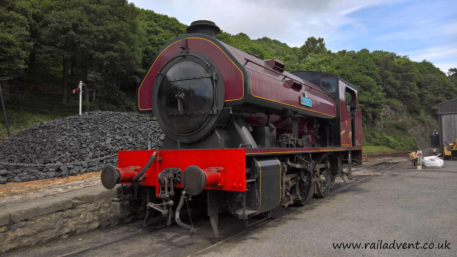 Victor at Haverthwaite on the Lakeside & Haverthwaite Railway