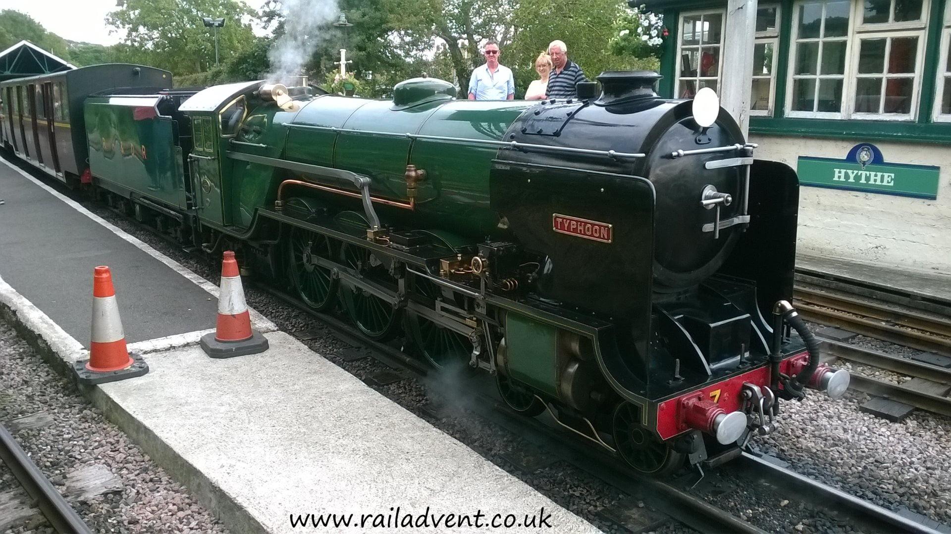 Hythe Station on the Romney, Hythe & Dymchurch Railway