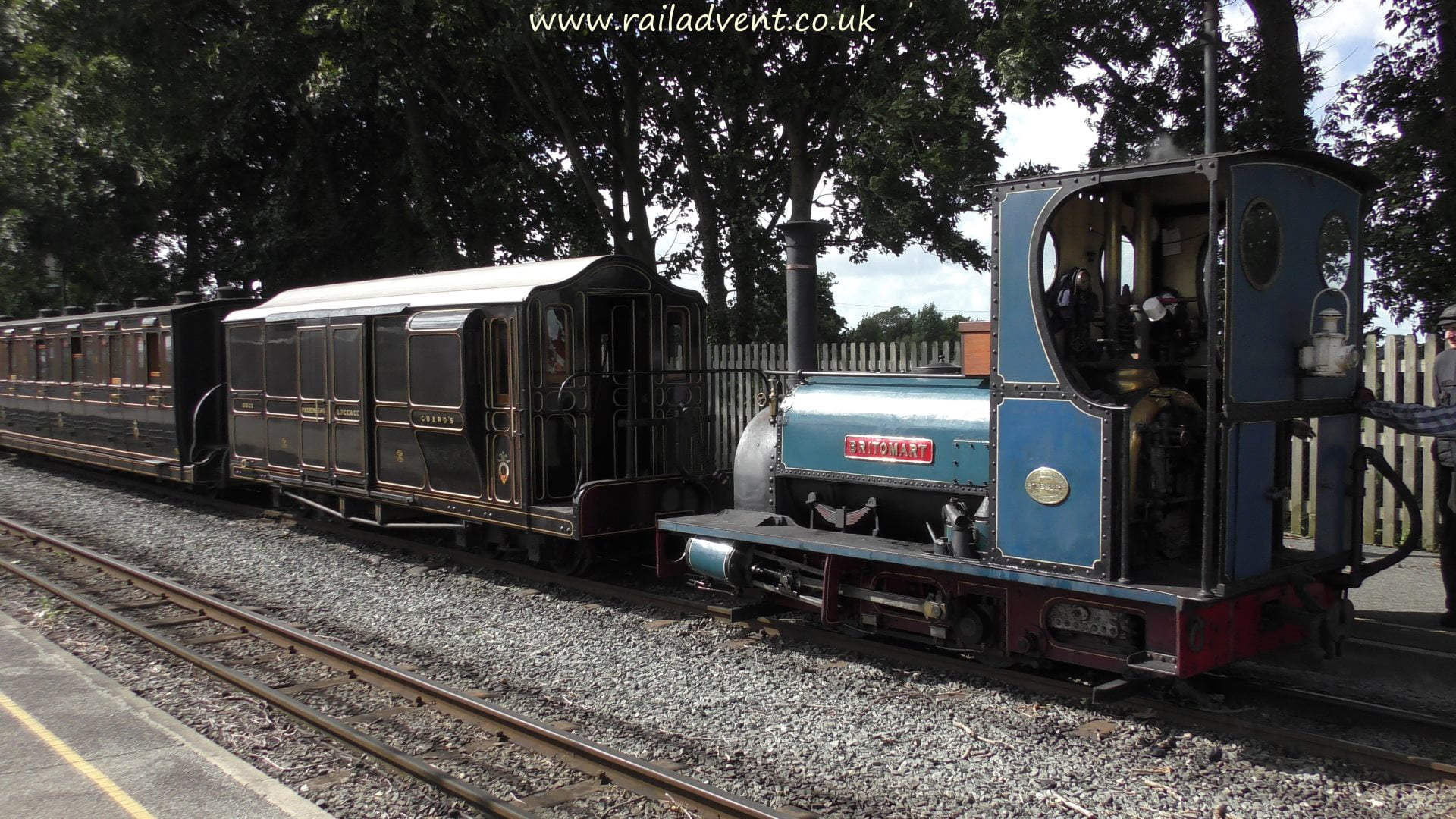 Britomart at Dinas on the Welsh Highland Railway
