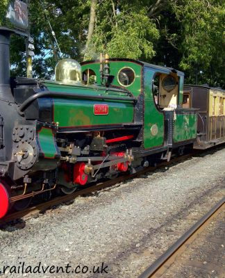 Linda at Dinas on the Welsh Highland Railway