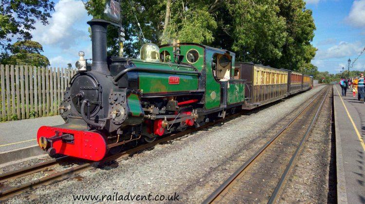 Linda at Dinas on the Welsh Highland Railway