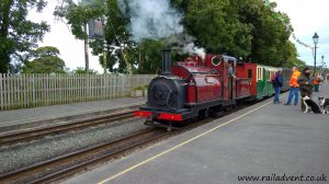 Prince at Dinas with a Shuttle Train to Beddgelert