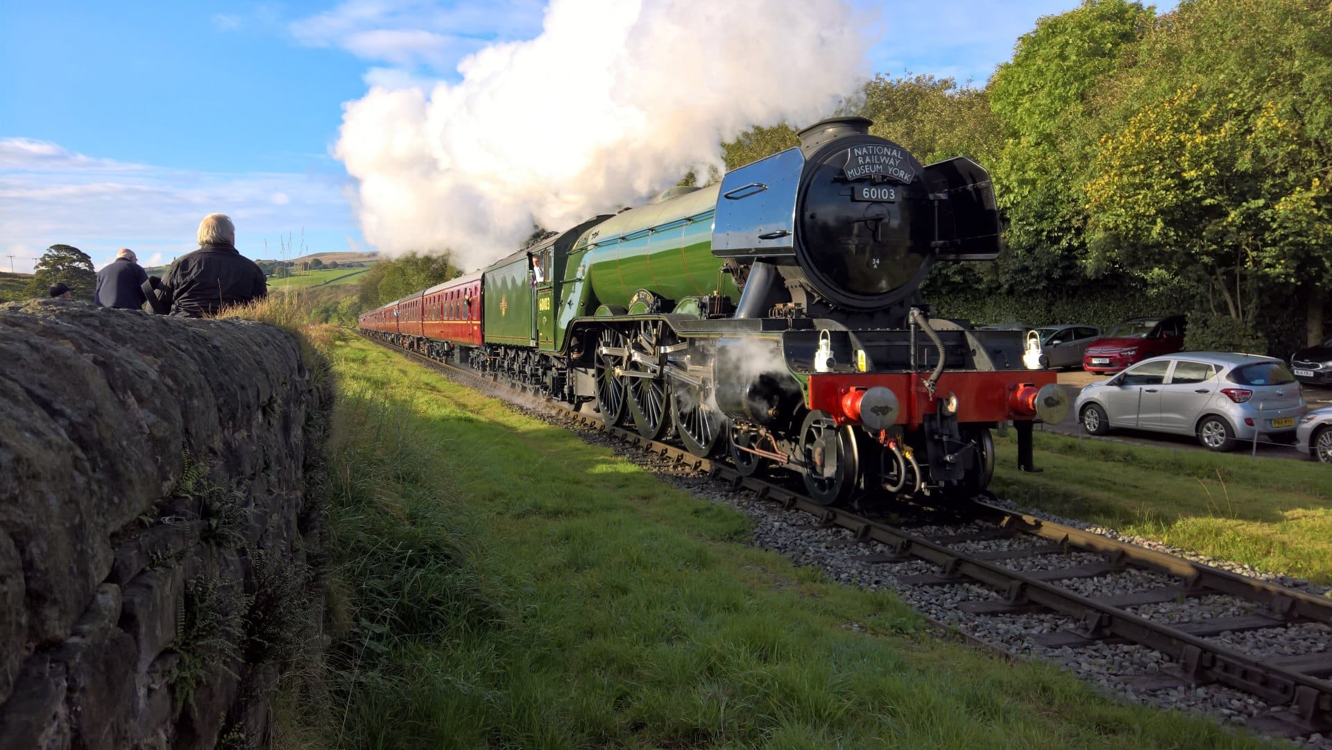 Flying Scotsman at Irwell Vale on the East Lancashire Railway