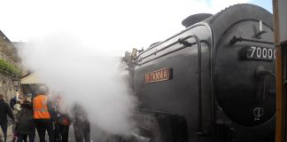 Britannia at the Llangollen Railway
