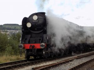 Sir Keith Park at Keighley on the Keighley & Worth Valley Railway