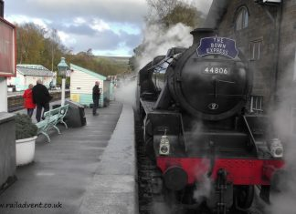 No. 44806 at Grosmont on the North Yorkshire Moors Railway