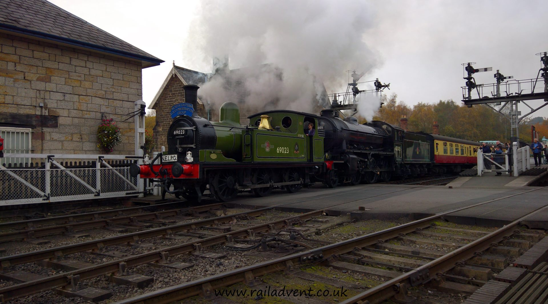 No. 69023 'Joem' and 62005 depart Grosmont for Pickering