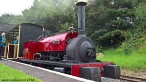 Hunslet loco Alice at Bala on the Bala Lake Railway