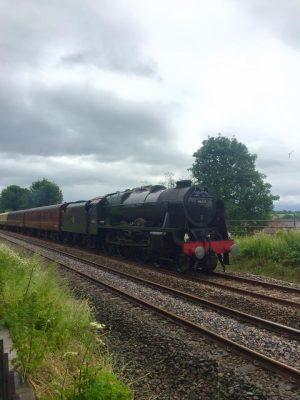 46115 'Scots Guardsman' steams past Long Marton with 'The Fellsman' on the Settle & Carlisle