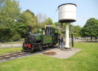 Steam Locomotive Countess at Welshpool on the Welshpool and Llanfair Light Railway
