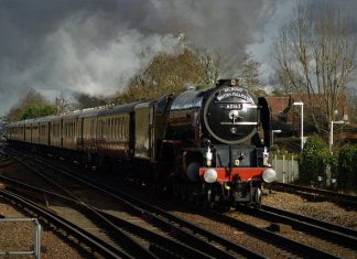 Tornado at Woking with British Belmond Pullman