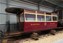 Ryde Pier Tram at the Isle of Wight Railway