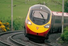 Virgin Pendolino tiliting around a curve // Credit: Virgin Trains