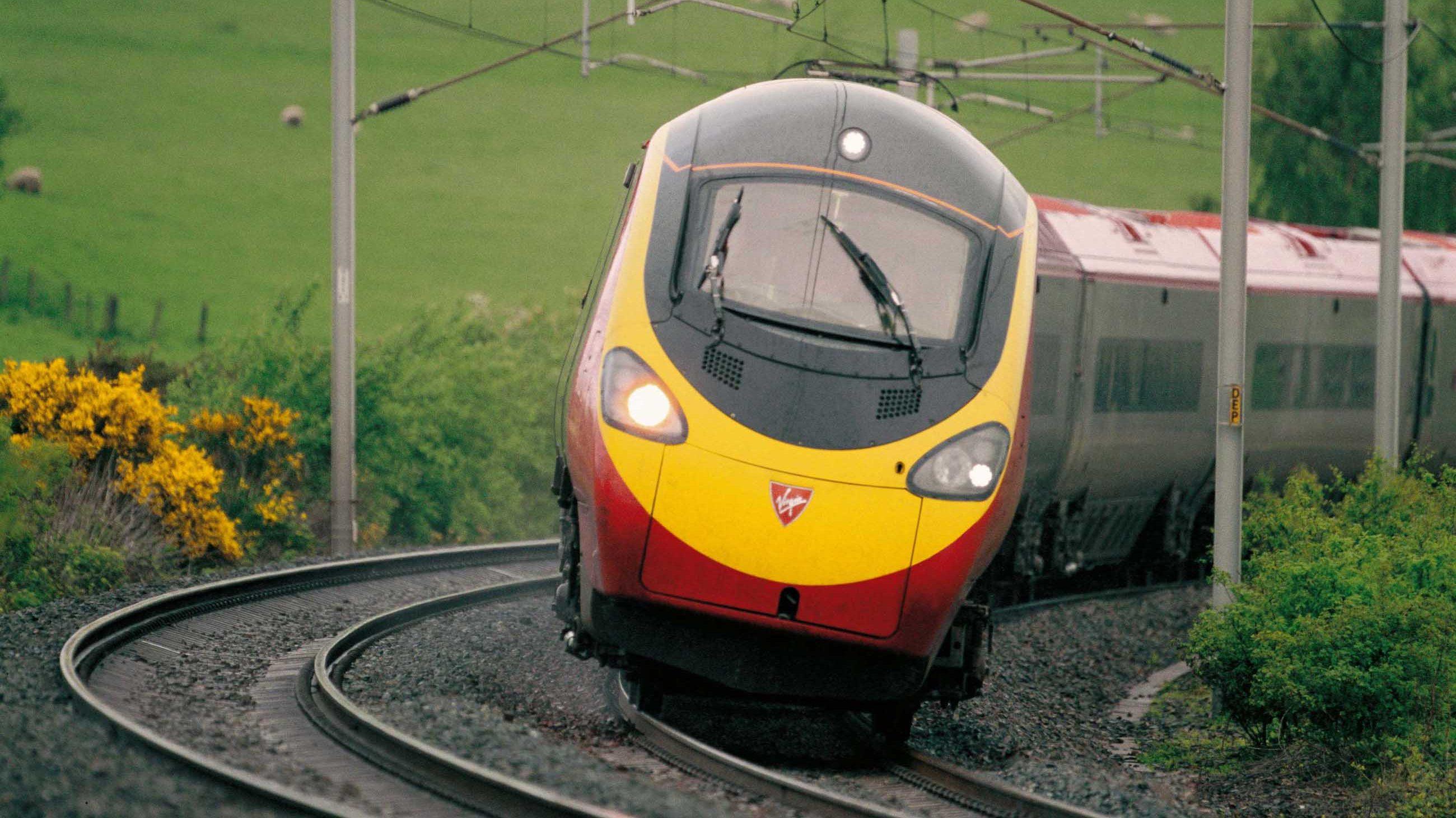 Virgin Pendolino tiliting around a curve // Credit: Virgin Trains