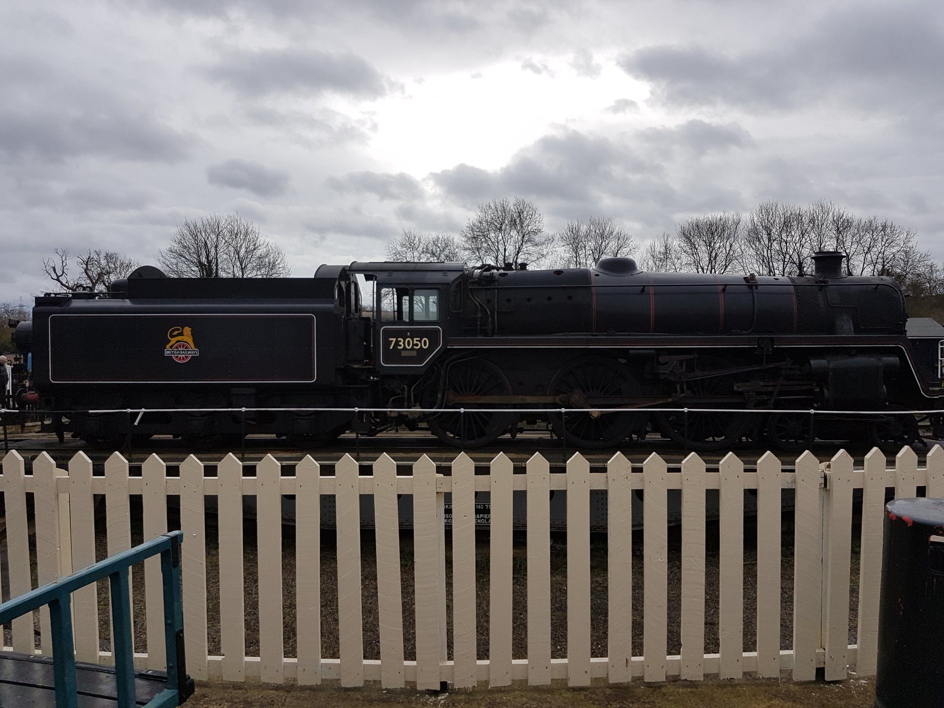 73050 on the Turntable at Wansford Station at the Nene Valley Railway