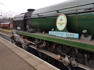 Sir Keith Park at Wansford on the Nene Valley Railway