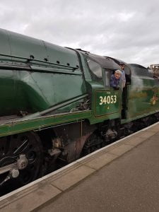 Sir Keith Park on the Nene Valley Railway