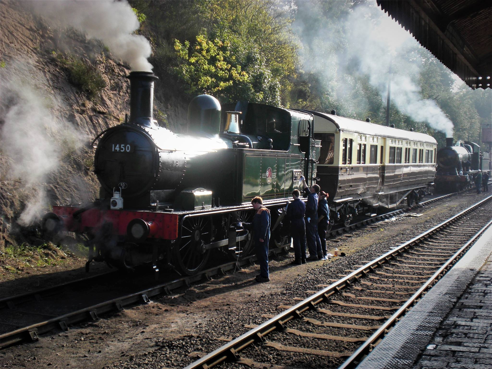 1450 on the Severn Valley Railway