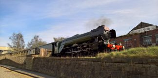 No. 60103 Flying Scotsman at Keighley on the Keighley & Worth Valley Railway