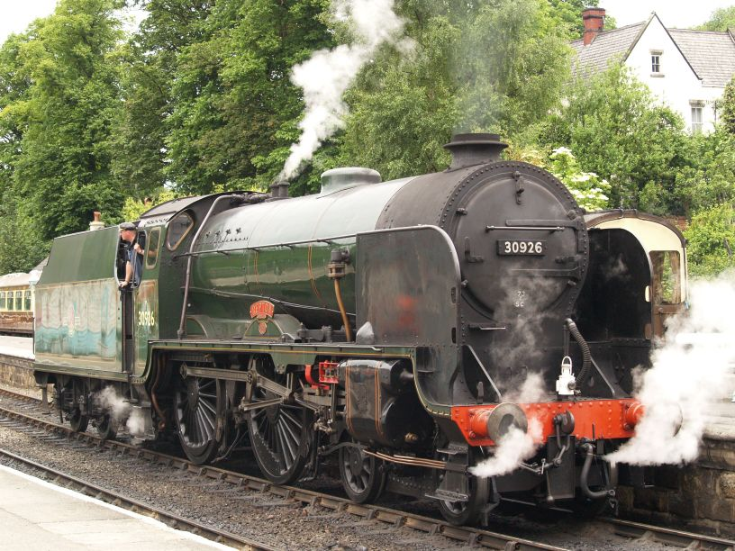 No. 926 Repton at Grosmont on the North Yorkshire Moors Railway