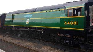 34081 '92 Squadron' at Wansford Station Credit - Jamie Duggan