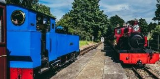 Wroxham Broad passes Mark Timothy at Coltishall on the Bure Valley Railway