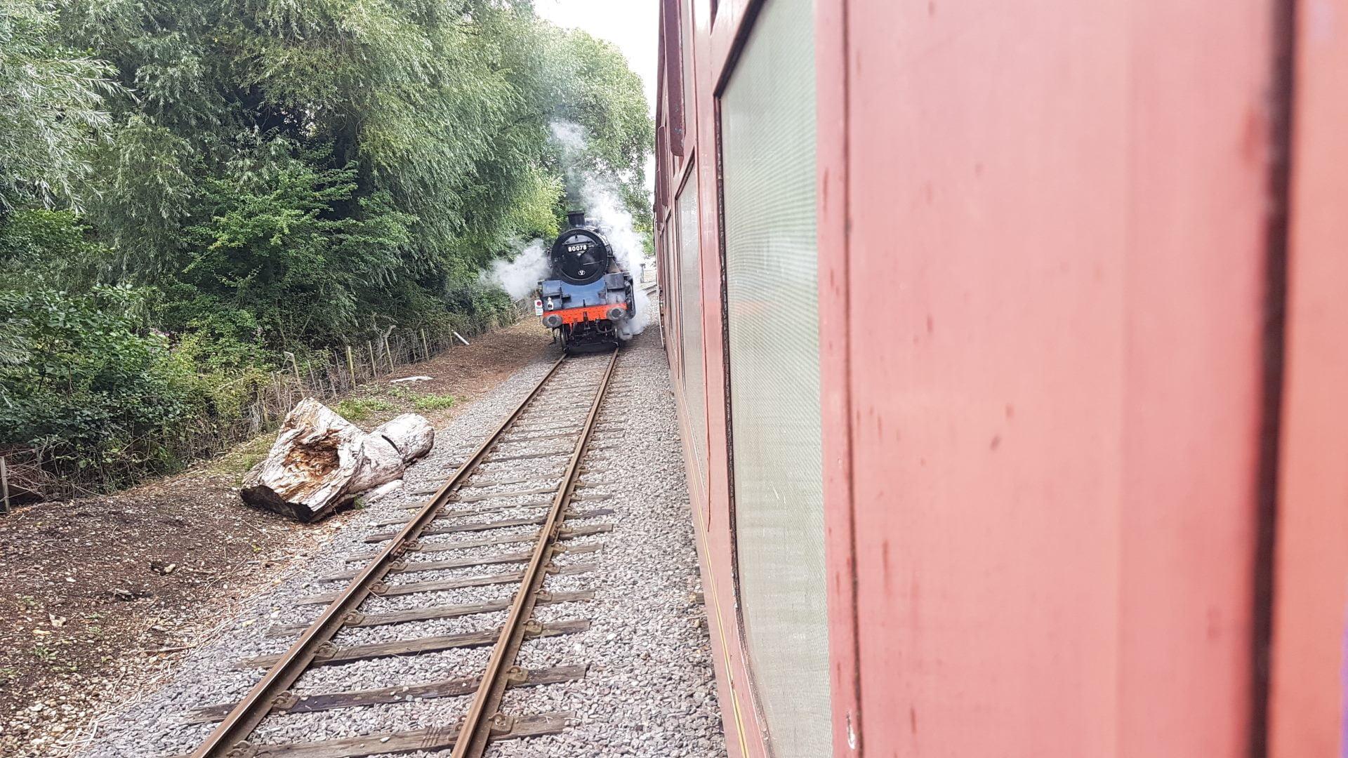 80078 running around its train
