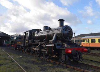 78018 stands in Wansford Yard Credits - Steam Railway Magazine and Thomas Bright