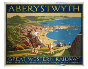 Vintage Railway Poster - Aberystwyth