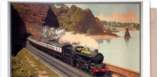 Vintage Railway Poster - Greetings Card