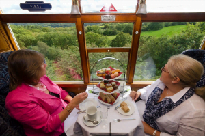 Luxury Afternoon Tea // Credit: Ffestiniog Railway