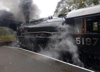 5197 at Froghall Station // Credit: Jamie Duggan