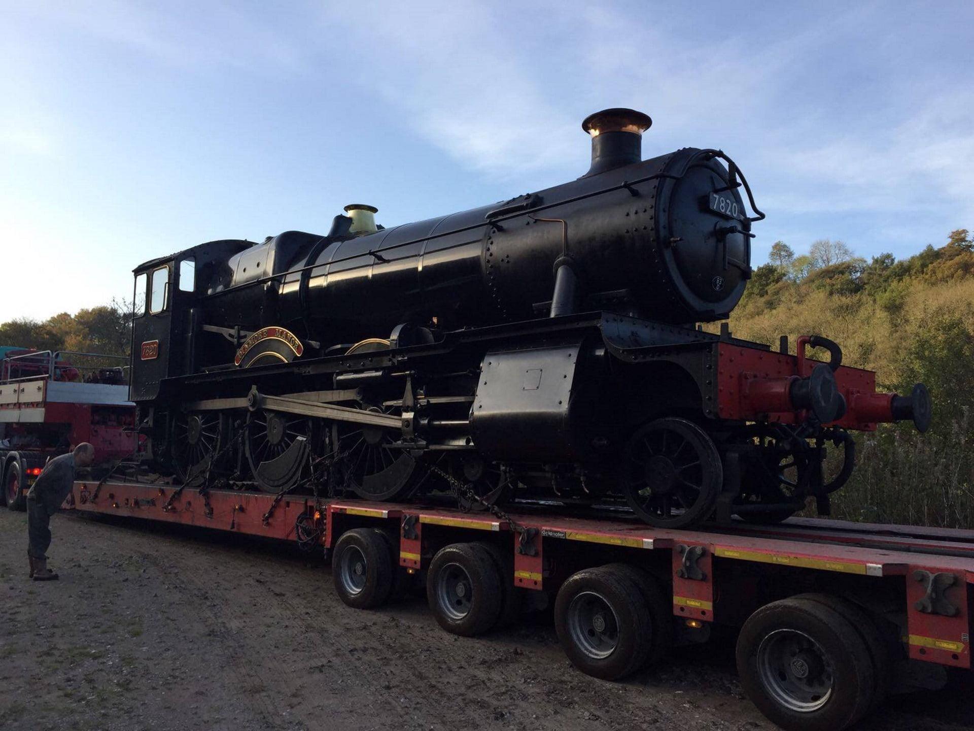 """7820 """"Dinmore Manor"""" arrives at CVR - credit CVR"""
