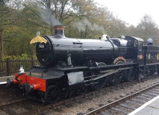 "7820 ""Dinmore Manor"" at Froghall Station // Credit: Jamie Duggan"