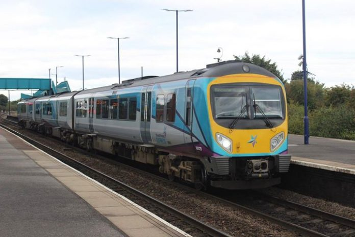 TransPennine Express 185 195129 is seen at Barnetby // Credit: Declan Hurrell