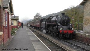 76084 at Levisham on the North Yorkshire Moors Railway