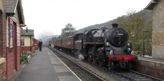 76084 at Levisham on the North Yorkshire Moors Railway