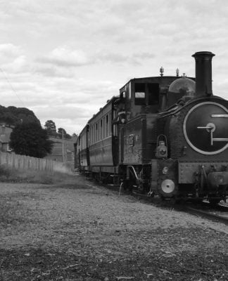 823 at Sylfaen on the Welshpool & Llanfair Railway during Steam Gala 2017