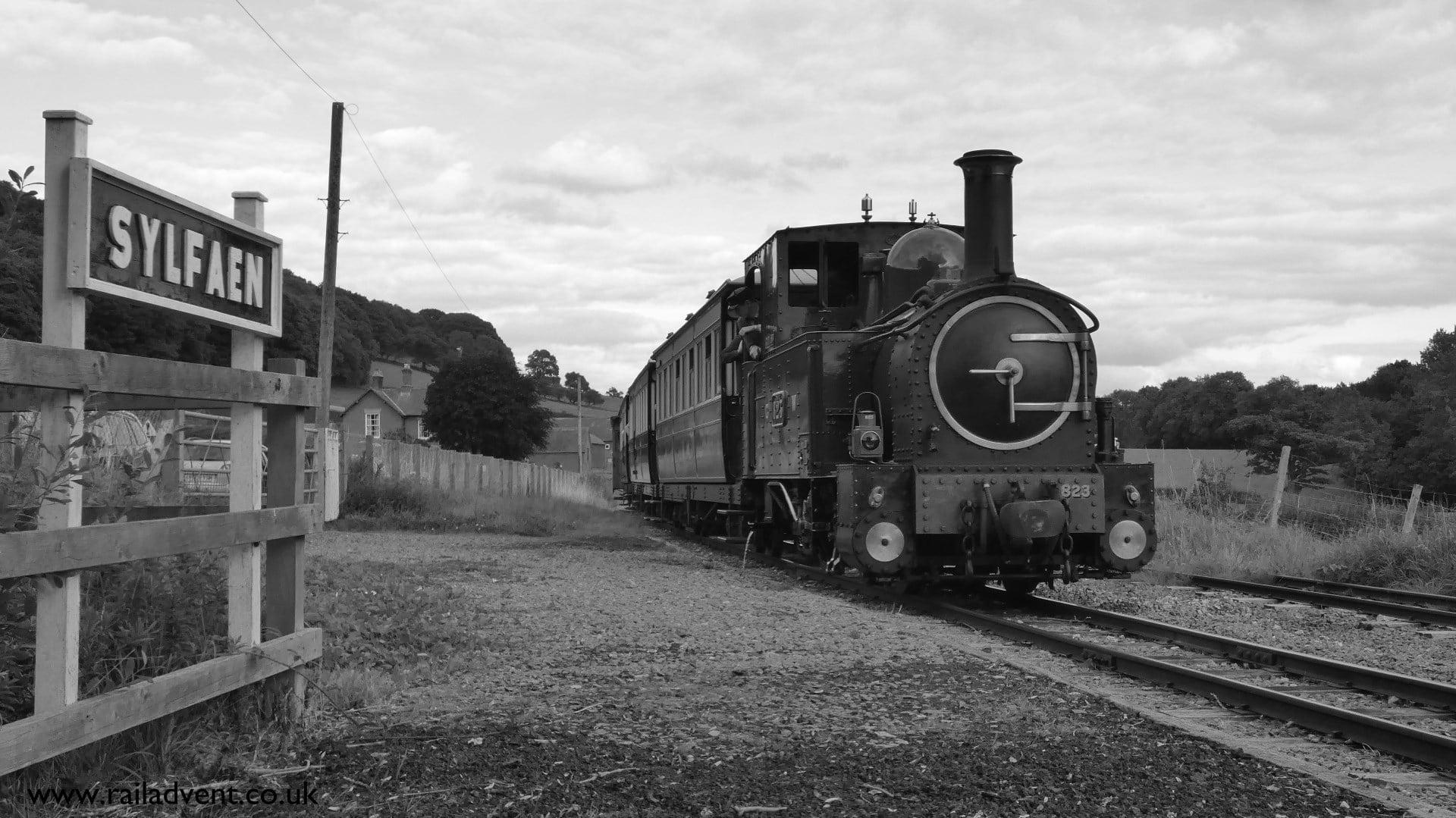 823 at Sylfaen on the Welshpool & Llanfair Railway during Steam Gala 2017