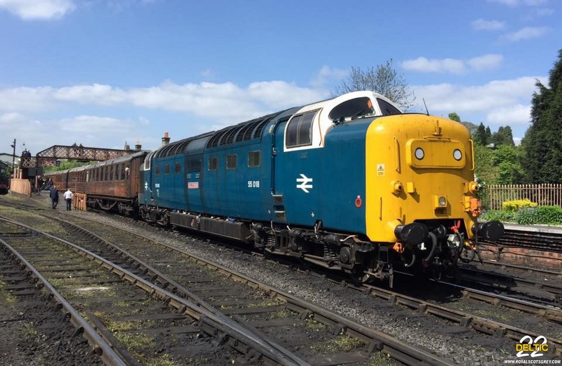 """55022 """"Royal Scots Grey"""" running as 55018 """"Ballymoss"""" at Bridgenorth, SVR Credit Martin Walker"""