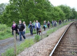 Bluebell Railway Track Trek Walkers