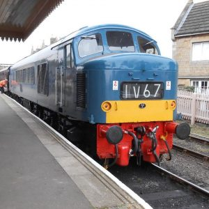 Peak D128 at Wansford Station on the Nene Valley Railway