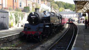 80072 at Llangollen on the Llangollen Railway during the Autumn Steam Gala