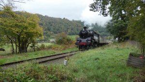 80072 heads for Corwen East on the Llangollen Railway