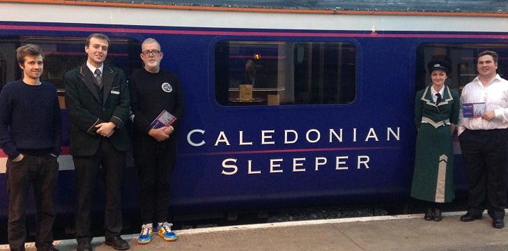 Opera performed on the Calendonian Sleeper train