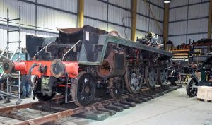 34028 Eddystone's Chassis back inside Herston // Credit Southern Locomotives Ltd