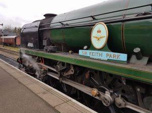 """34053 """"Sir Keith Park"""" at Wansford Station // Credit Jamie Duggan"""