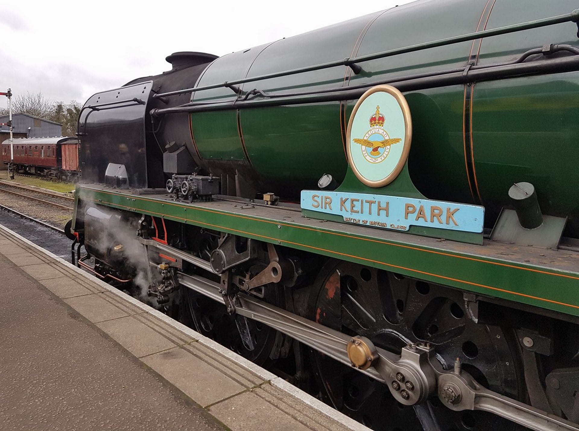 "34053 ""Sir Keith Park"" at Wansford Station // Credit Jamie Duggan"