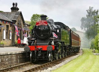 41241 in BR Black, early crest Credit Keighley & Worth Valley Railway's website
