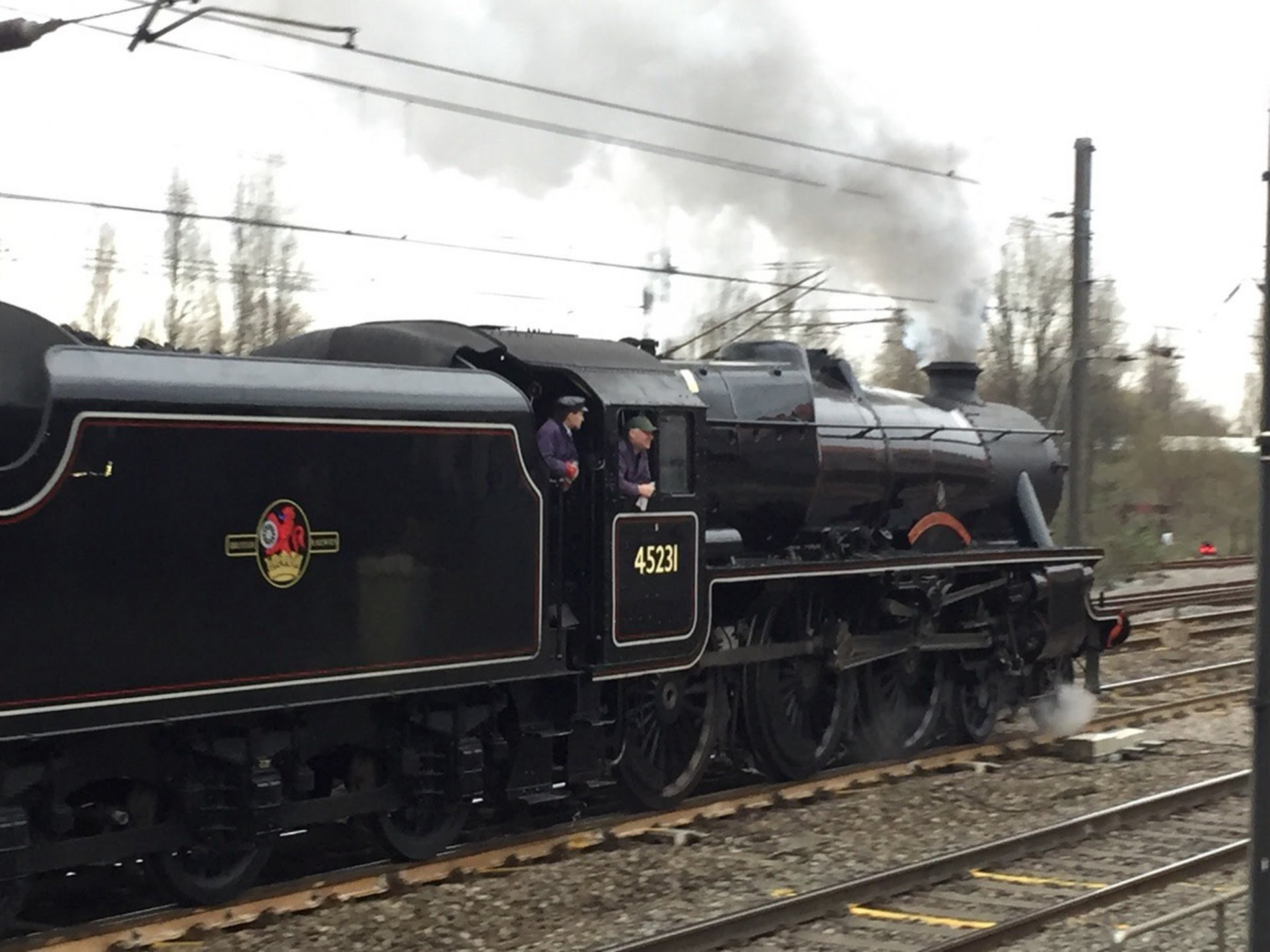 """45231 """"The Sherwood Forester"""" Credit Martyn Bane"""